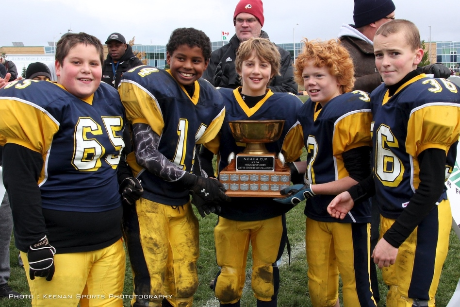 2012 Mosquito B-Cup Champions:  Bell Warrior Captains Pictured L to R:  Connor England, Malik Yusuf, James Keenan, Joshua Streng, Shayne Forsythe