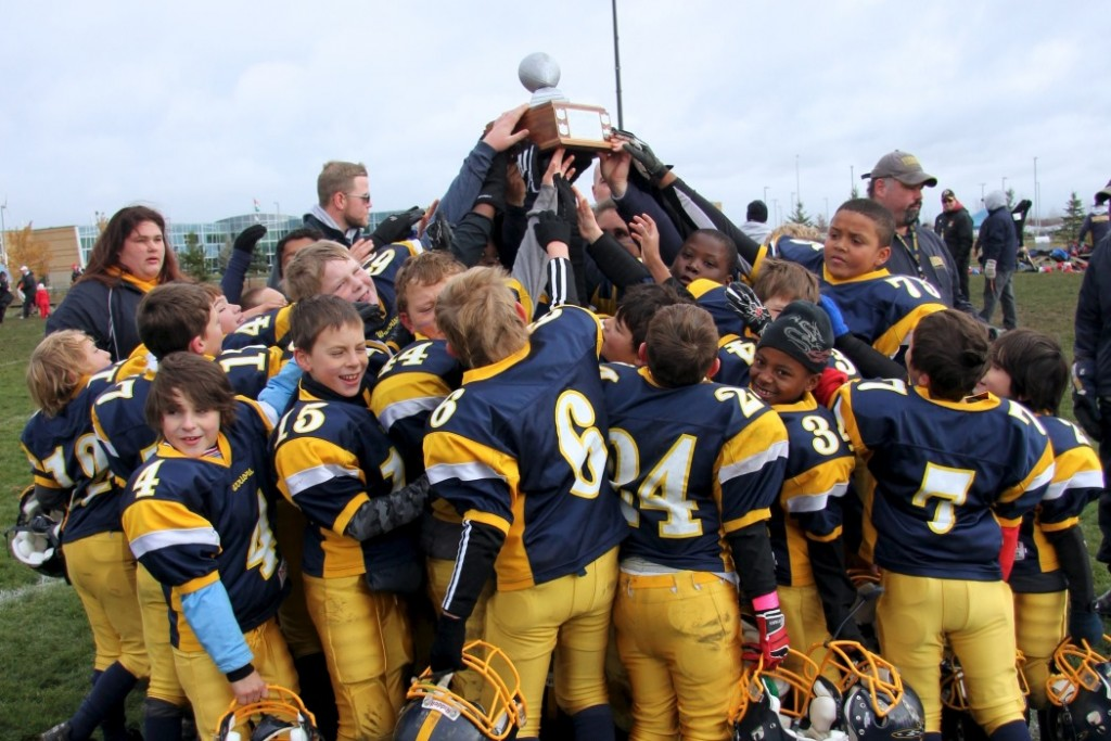 2012 NCAFA Tyke B-Cup Champions: Bell Warriors coached by Head Coach Brian Patterson