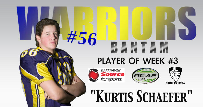 Kurtis Player of the week