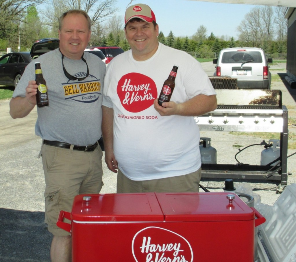 Paul Stewart (President) with Paul Meek, Owner of Harvey and Verns (Event Sponsor)
