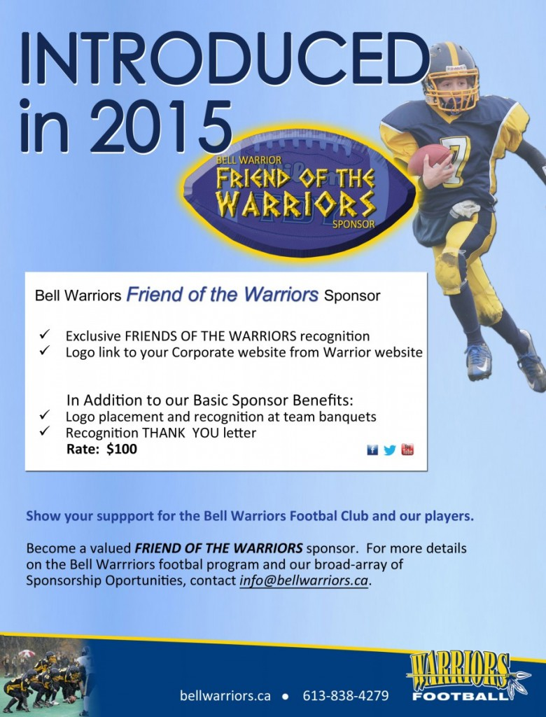 Friends of the Warriors page 2015