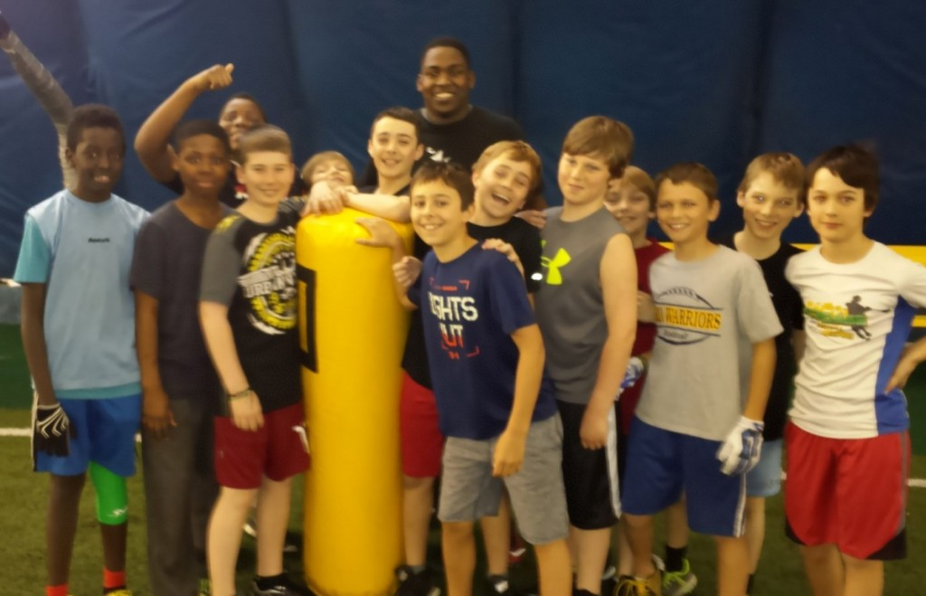Ravens Guest Coach Tevin Bowen had our Warriors working hard.