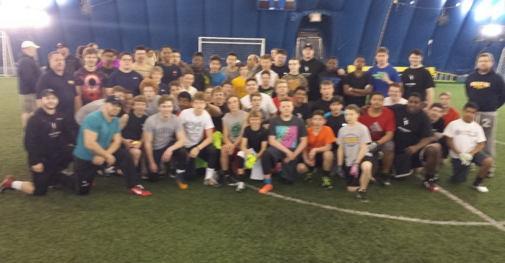 Ravens coaches with our Pee Wees and Bantams