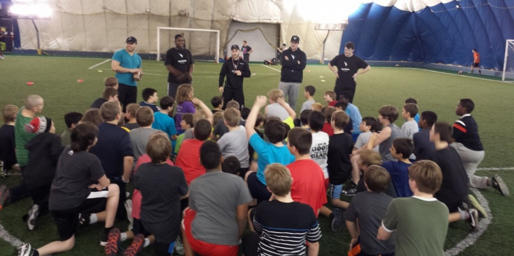 Ravens Guest Coaches with our Tykes & Mosquitos