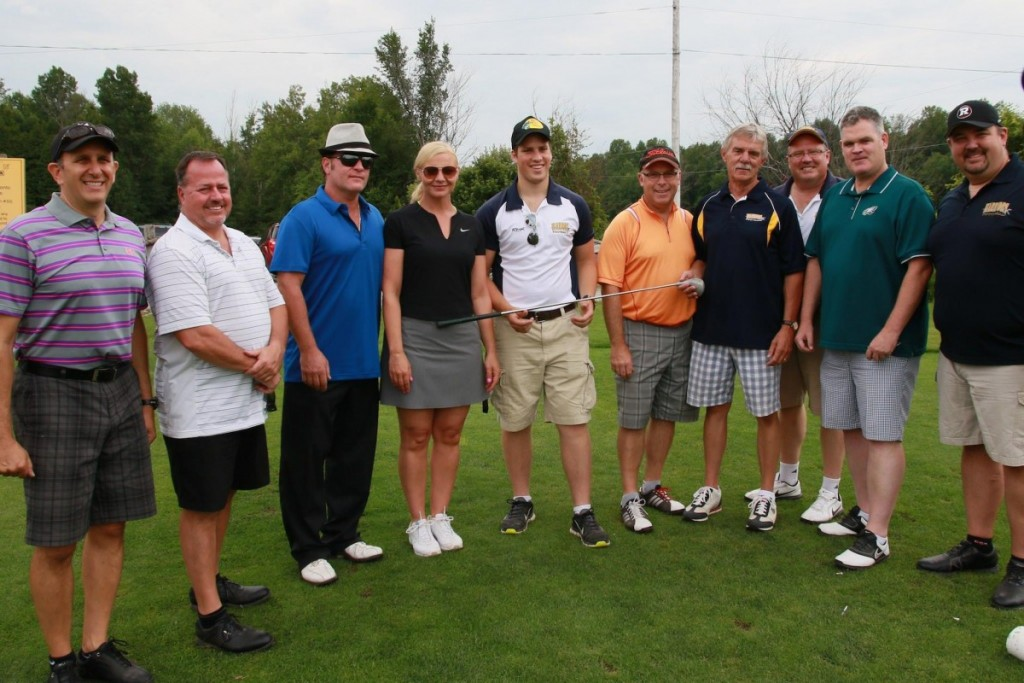 The Warriors Faithful (l to r):  Rich Baylin, Dan Crabtreee, Joe & Veronica Papalia, Quinn Stewart, Tim Sheahan, Jim Wagdin, Paul Stewart, Steve Dean, Ken Schwartz.