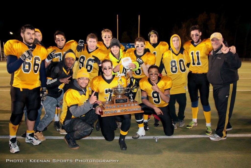 14 Warrior Alumni played on the 2015 NCAFA Midget Champion Bel-Air Norsemen including Nick Curran, Brady Newbold, Josh Howatt, Kerbens Boissette, Malcolm Turgeon, Jacob Stuart-Lafleur, Quinn Stewart, Tyler Brown, Brad Cowan, Ross Polito, Tremayne Rockburn, Sheldon Thomas, Dilan Parry, Jack Rabb, Terry Schaefer (coach) and missing from photo Keith Stuart (coach)