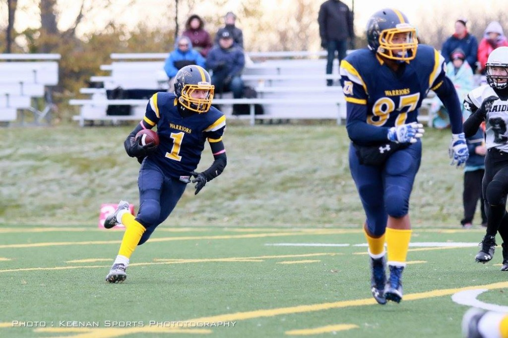RB #1 Jake Papalia has been a leader all year. Being led here by 1st year Pee Wee Trey O'Brien.