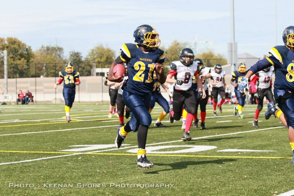 Pee Wee RB #21 John Lubemba will be a go-=guy again Sunday as he has been all year.