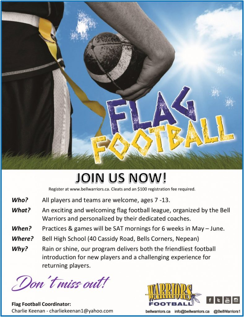 Glenn Auto Mall >> FLAG FOOTBALL | Bell Warriors